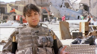 Michelle Rodriguez discusses her tough girl Tech Sergeant Elena Santos, a role created late in the pre-production process.