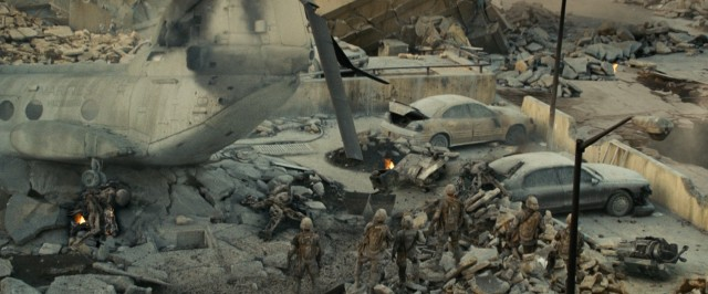 "Invasion by hostile aliens leaves Los Angeles looking differently in ""Battle: Los Angeles."""