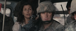 A pretty veterinarian (Bridget Moynahan) is introduced to conduct an alien autopsy and to supply fleeting contrast to all the rugged soldiers featuring throughout.