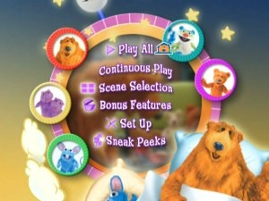 "The spirited and animated main menu for ""Early to Bed, Early to Rise."""