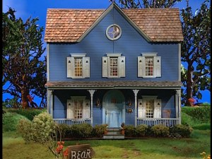 The Big Blue House in all its big, blue glory.