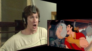 """Frame by Frame"" breaks down the animation process, here focusing on actor Richard White's vocal work as Gaston in the film's opening musical number."
