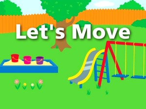"""Let's Move"" is one of the four segments which comprise ""Baby Einstein: Baby's First Moves."""