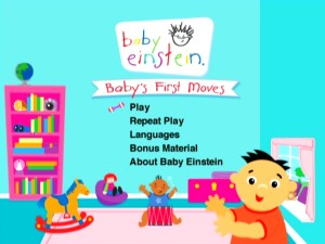 The main menu from the 22nd title in the Baby Einstein legacy.