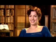 "Anne Hathaway is noticeably cheerier than her on-screen persona in ""Discovering the Real Jane Austen."""