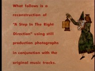 A scroll in the style of the opening credits prepares you for the blend of Angela Lansbury audio and photographs that follow.
