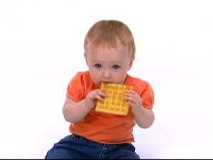 """Anyone for waffles?"" or ""Hey kid, don't eat the square!"""