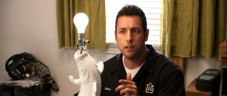"The light bulb comes on, my dear, as handyman Skeeter Bronson (Adam Sandler) realizes how the ""Bedtime Stories"" are coming true."