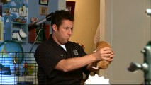 """It's Bugsy"", thinks Adam Sandler while holding the guinea pig at the center of the featurette."