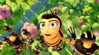 Barry Takes To The Skies With Pollen Jocks His Wide Eyes Reflecting Impressive New Bee Movie