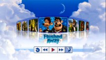 "In between three Shrek movies and three all-DreamWorks vertebrate comedies, Aardman's ""Dancing with Myself"" opening from ""Flushed Away"" is one of 7 musical excerpts to choose from in the DreamWorks Animation Jukebox."