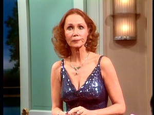 "Katherine Helmond crosses over as Jessica Tate, Benson's boss on ""Soap"", in the season's 8th episode."