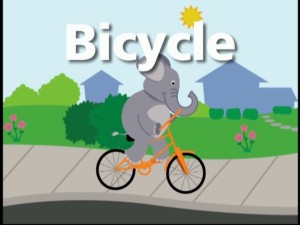 Elephants never forget...how to ride a bicycle.