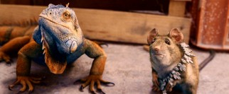 Having already voiced a Disney Chihuahua, Cheech Marin now gets to speak for con man rat Manuel; Paul Rodriguez lends his vocals to iguana partner Chico.