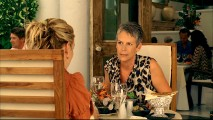 Jamie Lee Curtis is only briefly seen in the film and outtakes from this deleted scene are only glimpsed at in the Blooper Scooper reel.