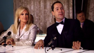 Playing unnamed dog show commentators, Morgan Fairchild and French Stewart come close to providing amusement.
