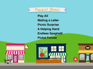 Baby Einstein: Baby's Favorite Places - Puppet Shows Menu