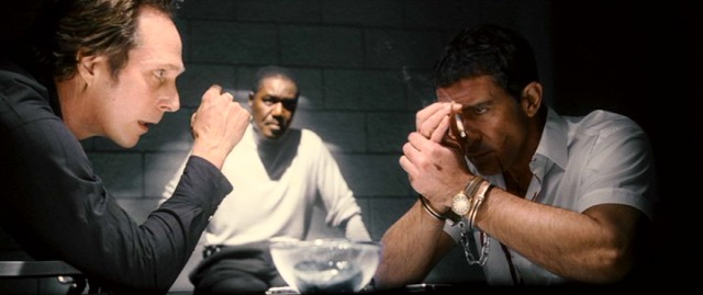 "Most of ""The Big Bang"" is framed within an interrogation of private eye Ned Cruz (Antonio Banderas) by L.A. police (including William Fichtner and Delroy Lindo)."