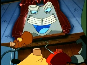 This mustachioed-looking, Nicholson-esque air conditioner is one of two characters voiced by Phil Hartman.