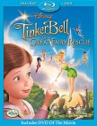 Tinker Bell and the Great Fairy Rescue Blu-ray Disc + DVD cover art