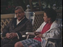 "Cory and Mr. Feeny share a drink in ""Father Knows Less."""