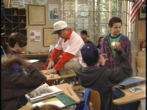 "Mr. Feeny is just one of Cory's students in ""Teacher's Bet."""