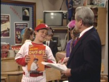 "Cory shows up as a professional baseball star in ""Class Pre-Union."""