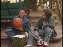 "Cory and Shawn in ""Santa's Little Helper."""
