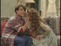 "Eric fends off the advances of Topanga in ""She Loves Me, She Loves Me Not."""