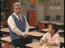 Cory spends detention with Mr. Feeny in the show's Pilot.
