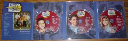 Boy Meets World: The Complete First Season - Digipak packaging folds open to reveal the three discs.
