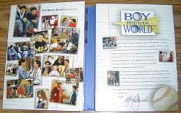The inside of the Digipak case reveals an assortment of photos from Season 1 and a letter from producer Michael Jacobs.