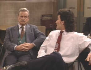 As John Adams High School's acting principal, Mr. Feeny is a bit skeptical of Mr. Turner's ways.