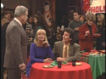 "Mr. Feeny checks up on Miss Tompkins and Mr. Turner during the ""Turnaround"" dance."