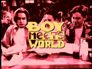 "The briefly-seen title sequence for the third season of ""Boy Meets World."""