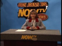 "Topanga is the anchorwoman for John Adams High's ""Now TV"" program, monitored by the trusting Eli."