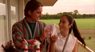Anthony falls for Paraguayan housekeeper Inez (Lumi Cavazos), whose smile suggests she too appreciates a warm towel.