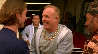 Mr. Henry (James Caan) enjoys a big laugh upon meeting Anthony.