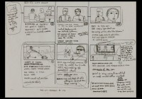 Wes Anderson's cute little storyboards give the impression of a little boy preparing for his big shot at making movies.