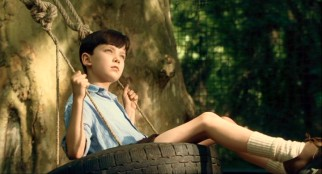 "While enjoying a wistful tire swing ride, eight-year-old Bruno (Asa Butterfield) notices dark smoke coming from the ""farm"" (i.e. Nazi concentration camp) next door."