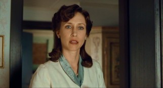 Vera Farmiga adopts 1940s fashions and an English accent to portray the family matriarch Elsa, whose naïveté gives way to quiet suffering.