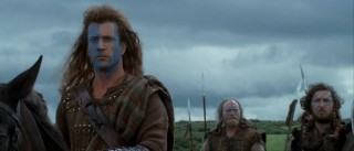 William Wallace (Mel Gibson) surveys the formidable odds against him while contemplating FREEDOM!