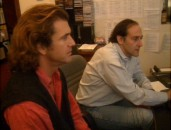 "Mel Gibson and editor Steven Rosenblum work feverishly towards a final cut in ""Alba Gu Brath!: The Making of Braveheart."""