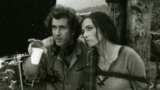 Mel Gibson directs Catherine McCormack, as seen in this black and white still, part of the photo montage featured on the Braveheart: Special Collector's Edition DVD.
