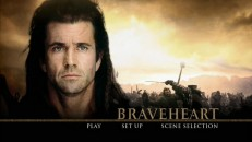 Like all the menus on the new Braveheart DVD, the 16x9 main menu is very classy looking.