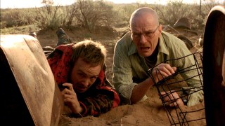 Partners in crime Jesse Pinkman (Aaron Paul) and Walter White (Bryan Cranston) find themselves in over their heads again early in Season 2.