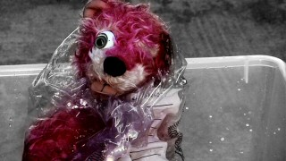 This one-eyed pink teddy bear provides a running motif of uncertainty through Season 2.