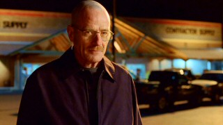 A small, devilish grin forms on the face of Walter White, at the realization that others respect his territory claims.