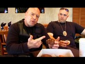 "Dean Norris extols the virtues of donuts in one of his four facetious ""Cop Talk"" shorts."