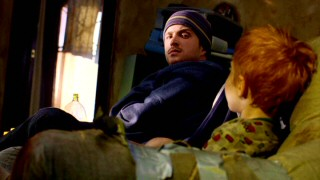 "In ""Peekaboo"", Jesse befriends this inarticulate young red-haired boy (played by Brandon and Dylan Carr) being sadly raised by drug addicts."